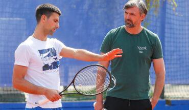 Novak Djokovic Hamad Medjedovic trening 1454