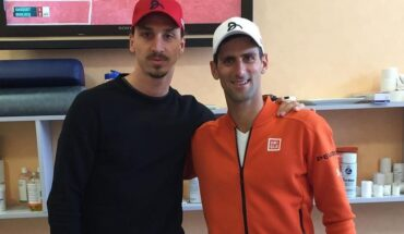 Zlatan Ibrahimovic i Novak DJokovic e1633423997100